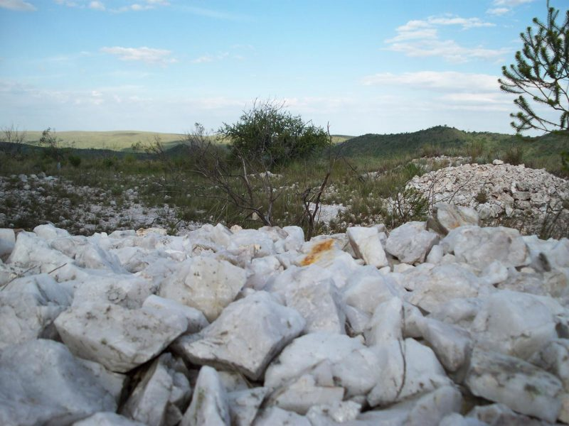 Alpa Corral cerro de cuarzo