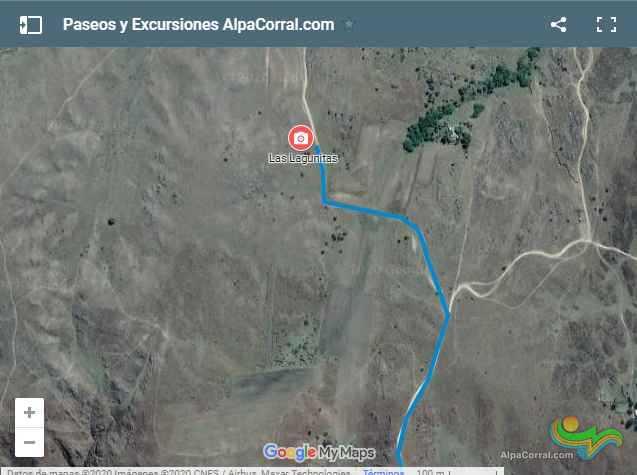 Mapa Las Lagunitas Alpa Corral Córdoba