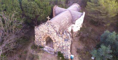 Capilla Hambare Alpa Corral Vista aerea de cupula en forma de cruz 2