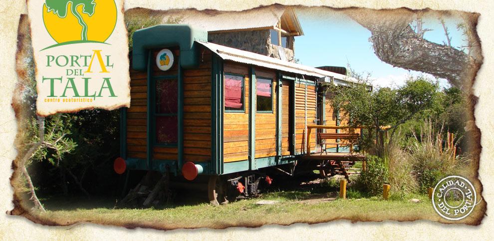 Portal del Tala Alpa Corral vagón de tren recepción