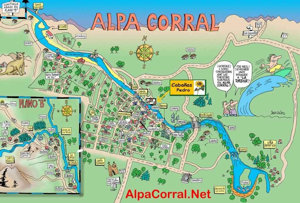 Alpa Corral Pedro cabañas mapa de ubicación