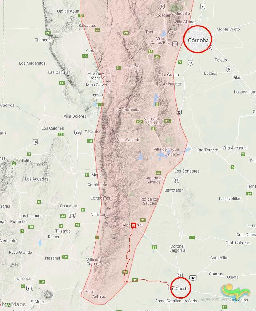 Sierra de comechingones - Alpa Corral - Río Cuarto y Córdoba - 1