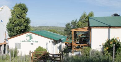 cabanas las casitas verdes alpa corral vista del complejo